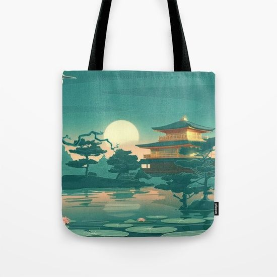 Birds Ocean House Tote Bag