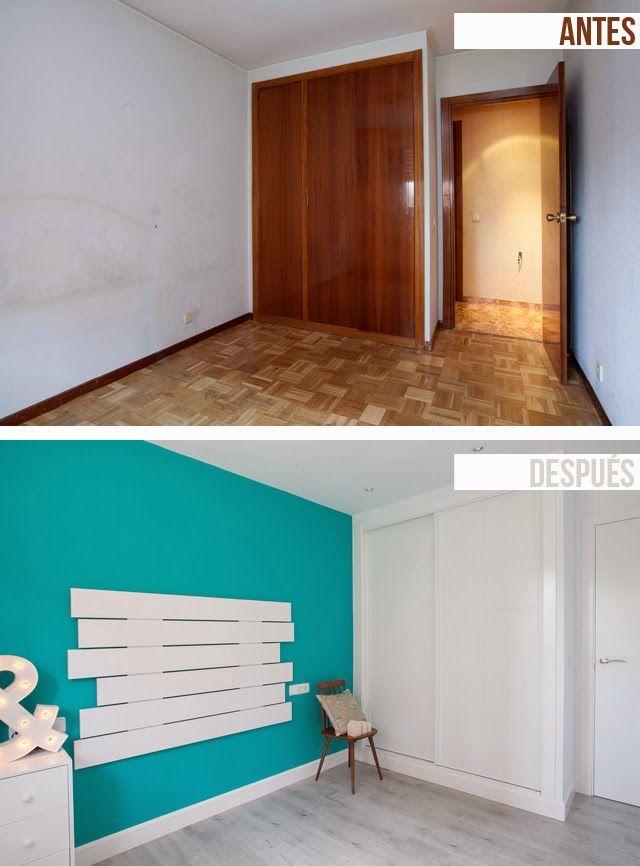 Decoración de interiores antes y después reforma integral. www.habitaliareformas.com