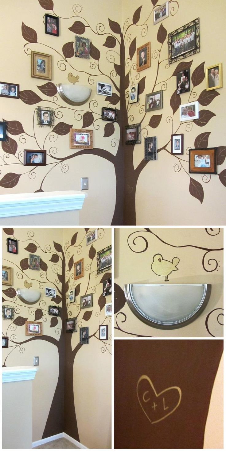 Picture frame family tree wall art tree decals trendy wall designs - I Painted This Family Tree Mural For My Mil Lynette Bright Love