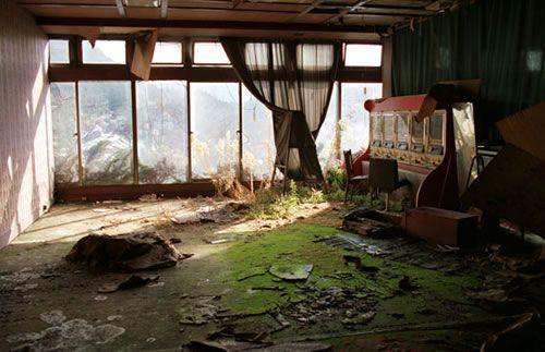 Hashima Island, une petite île entière abandonnée. Japon.