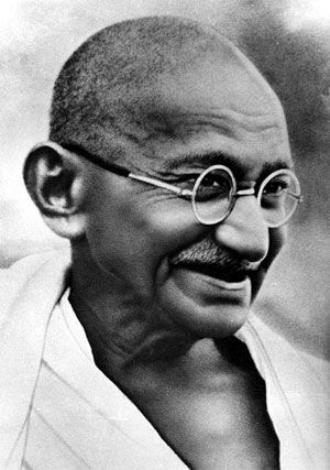 "Gandhi (""The Roots of Violence: Wealth without work, Pleasure without conscience, Knowledge without character, Commerce without morality, Science without humanity, Worship without sacrifice, Politics without principles."")"