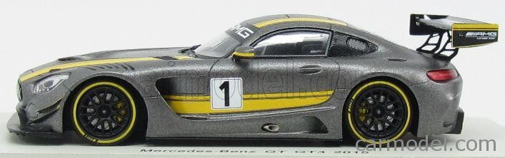 SPARK-MODEL S1084 Escala 1/43  MERCEDES BENZ GTS AMG GT3 N 1 2015  GREY YELLOW