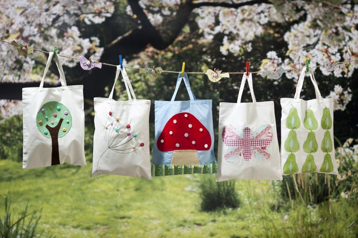 16 Ways to Upcycle Canvas Bags. Love the dandelion.