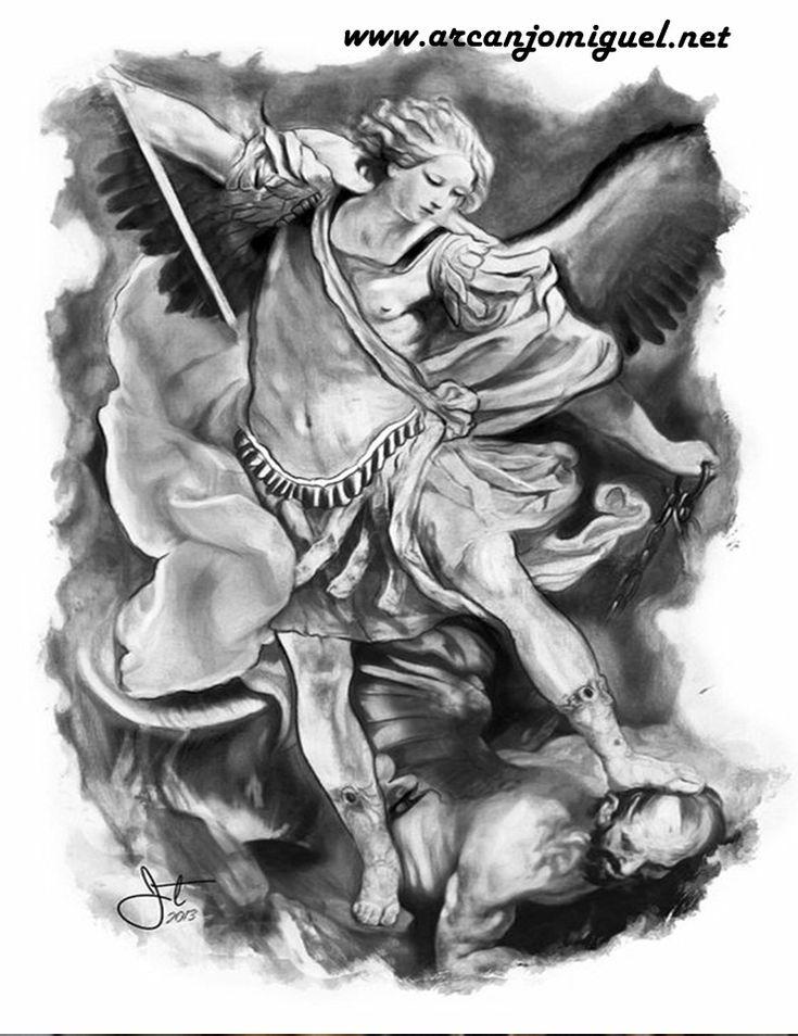 archangel michael tattoo - 600×889