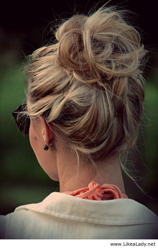 Trendy Messy Updo Hairstyle Tutorial