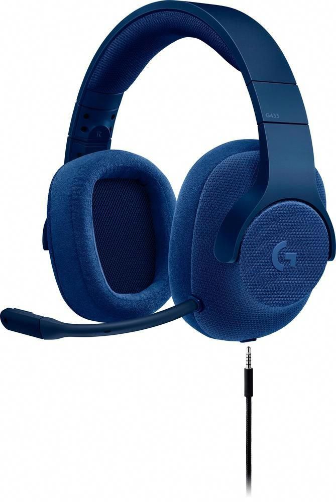 Logitech - G433 Wired 7.1 Gaming Headset - Blue  gamingheadsetswired ... 9c8f025cc6aa