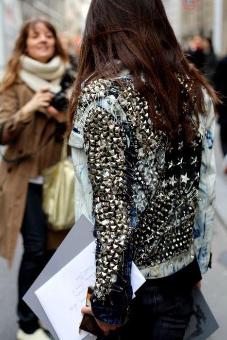 studded denim jacket <3
