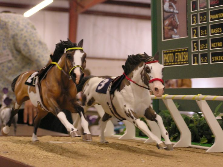 Custom Breyer Horses | two horses were customized by the exhibitor and placed in a race horse ...