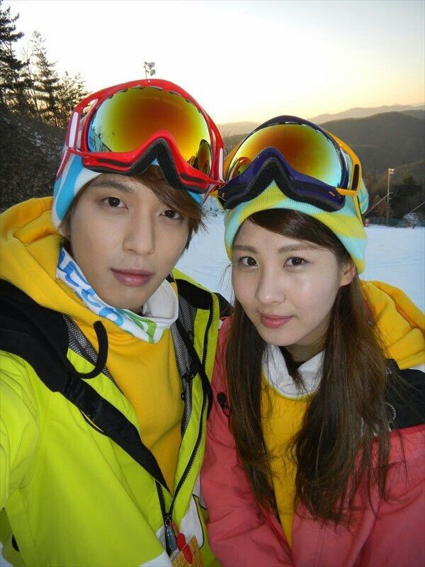#yongseo #winter #skiing My favorite couple ever♥