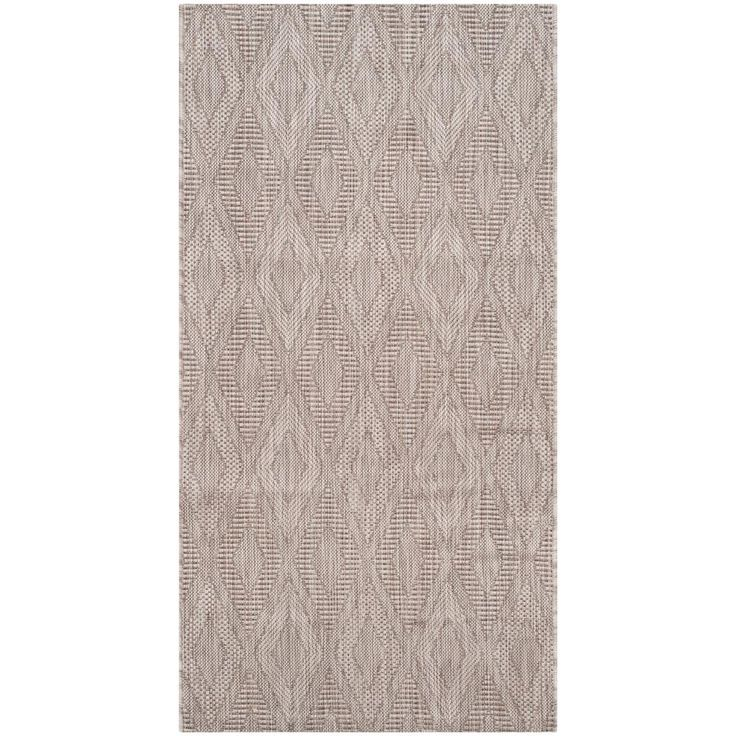 Courtyard Beige 2 ft. 7 in. x 5 ft. Indoor/Outdoor Rectangle Area Rug