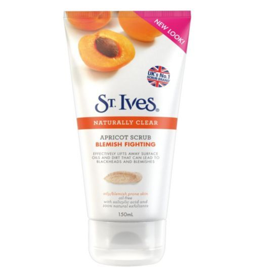 St Ives Blemish Fighting Facial Scrub. My favourite scrub that helps with my dry flakey skin and blemishes.