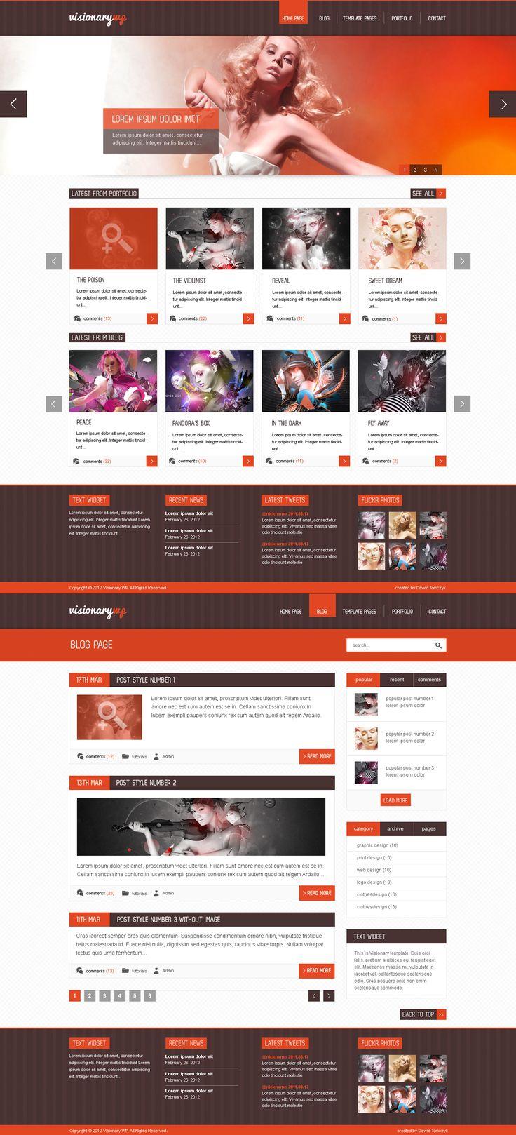 orange flashy web design - #web #design