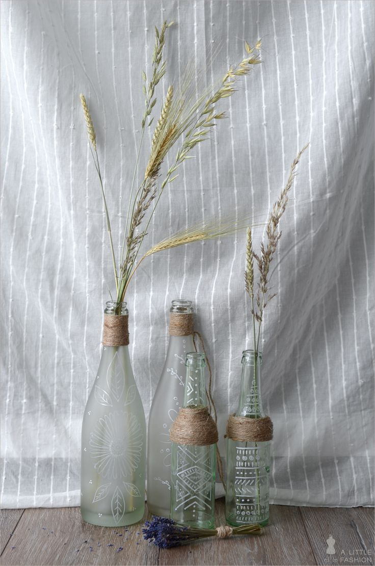 Boho-Feeling für Zuhause  - Flaschen bemalen