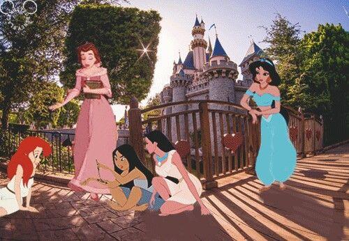 Pocahontas Belle Ariel Mulan Jasmine