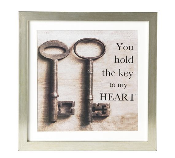 Buy Collection Key To My Heart Framed Print at Argos.co.uk - Your Online Shop for Pictures and wall art, Wall art, pictures and photo frames, Home furnishings, Home and garden.