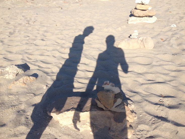 Un'unico sole Due ombre che si uniscono