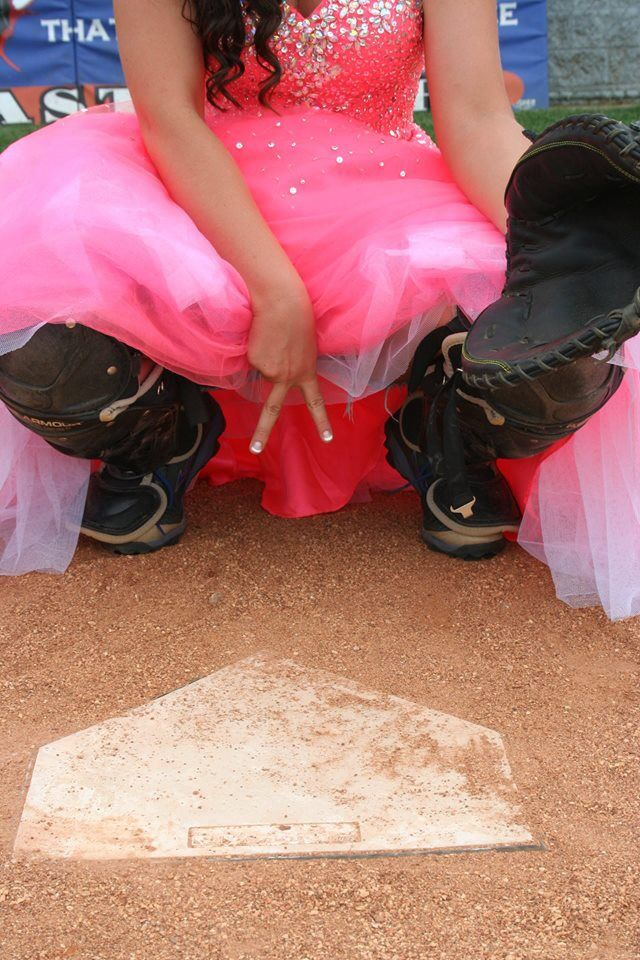 Softball catcher prom pictures..
