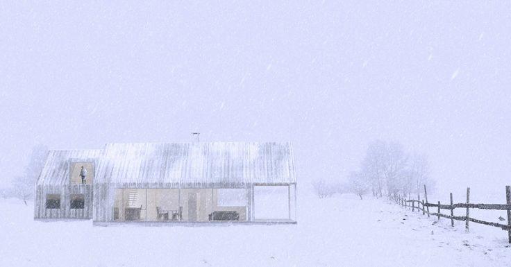 Ferdighytte for LH Bygg. Arkitekt: Janicke Jebsen Vinje