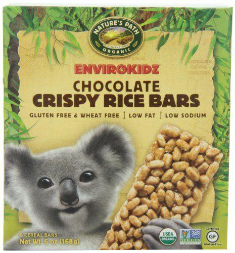 EnviroKidz Organic Koala Crispy Rice Bars, Chocolate, 6-Count Bars, 6 OZ (Pack of 6) EnviroKidz,http://www.amazon.com