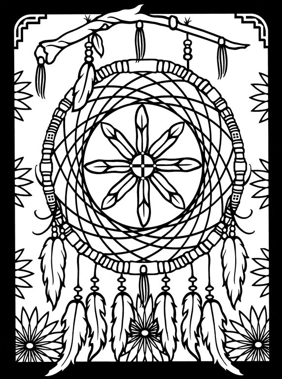 dreamcatchers stained glass coloring book dover publications - Colouring Pages Of Books