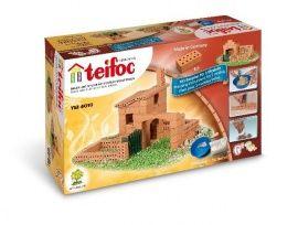 Met Teifoc bouw jij je eigen huis, paardenstal, windmolen etc. met cement en echte bouwstenen. Na het bouwen zijn de steentjes eenvoudig her te gebruiken.