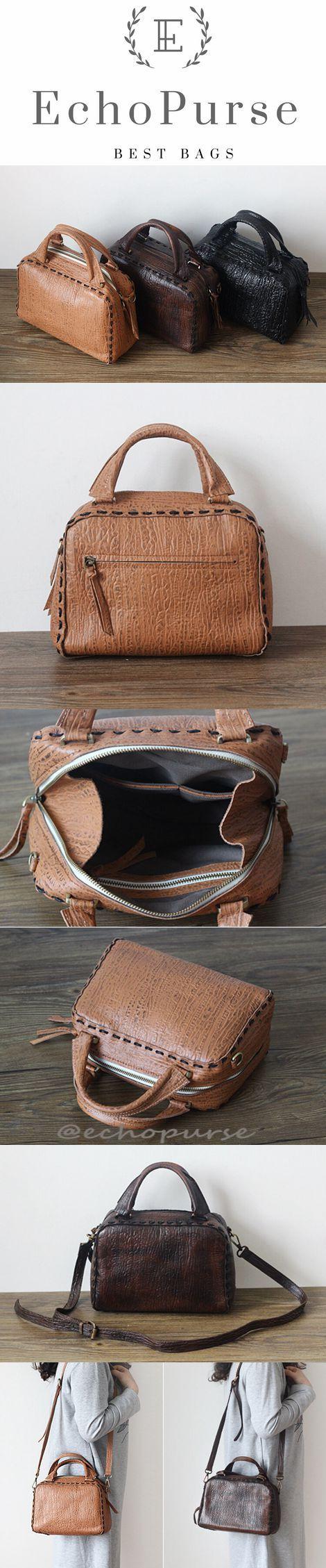 Leather Satchel Bag, Vegetable Tanned Leather Shoulder Bag PPM032