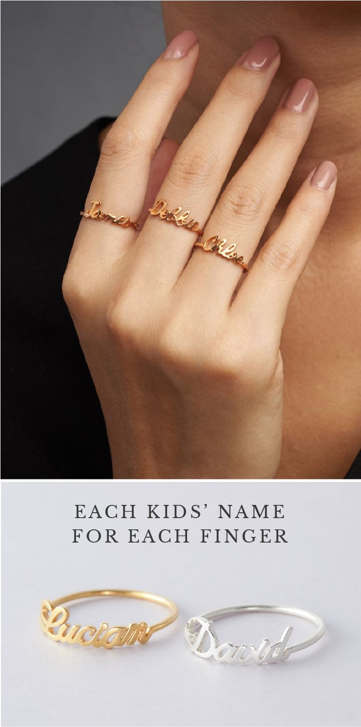 Stackable Name Ring • baby name rings • personalized name rings • Rose gold rings with name • id rings • custom name rings silver • Actual name ring • Ring with children's names • create your own ring • Bridesmaid jewelry • personalized jewelry • engagement present ideas • good bridesmaid gifts • birthday presents for mom • personalised engagement gifts for engaged couple • christmas gift ideas • best friend presents for friends