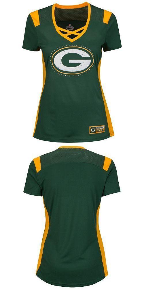 Women 159110: Majestic Green Bay Packers Draft Me Tee W Rhinestones Women S Med 8-10 Nwt -> BUY IT NOW ONLY: $48.99 on eBay!