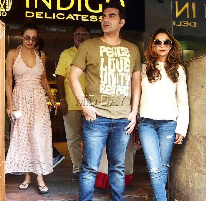 Photos: Malaika Arora and Arbaaz Khan's family lunch