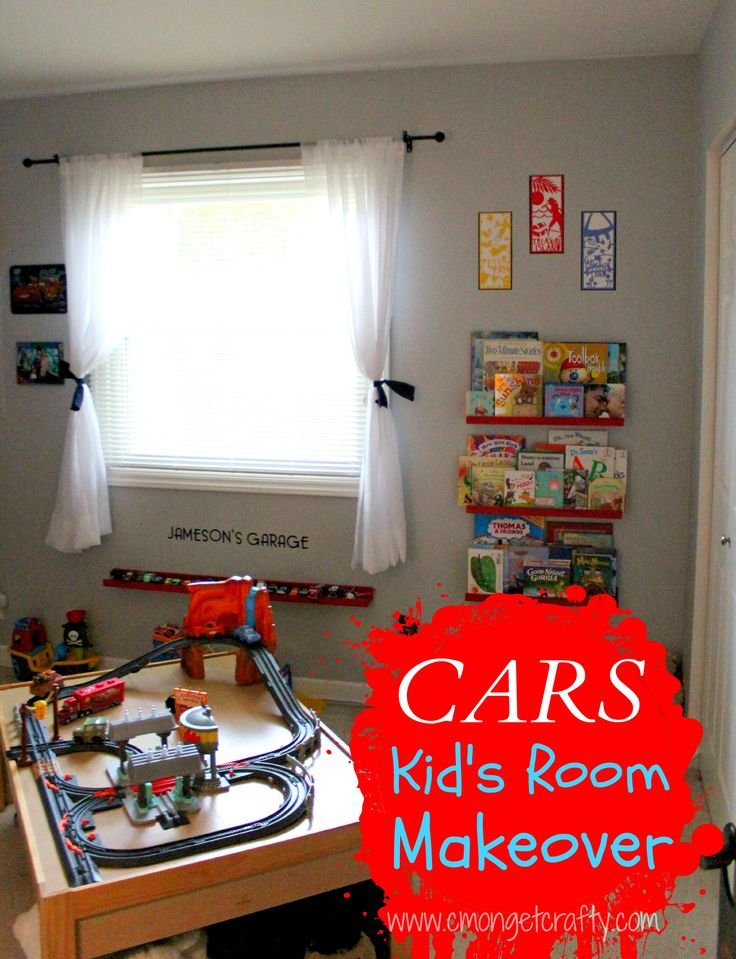 Disney Pixar Cars Themed Room Makeover - lots of good ideas!
