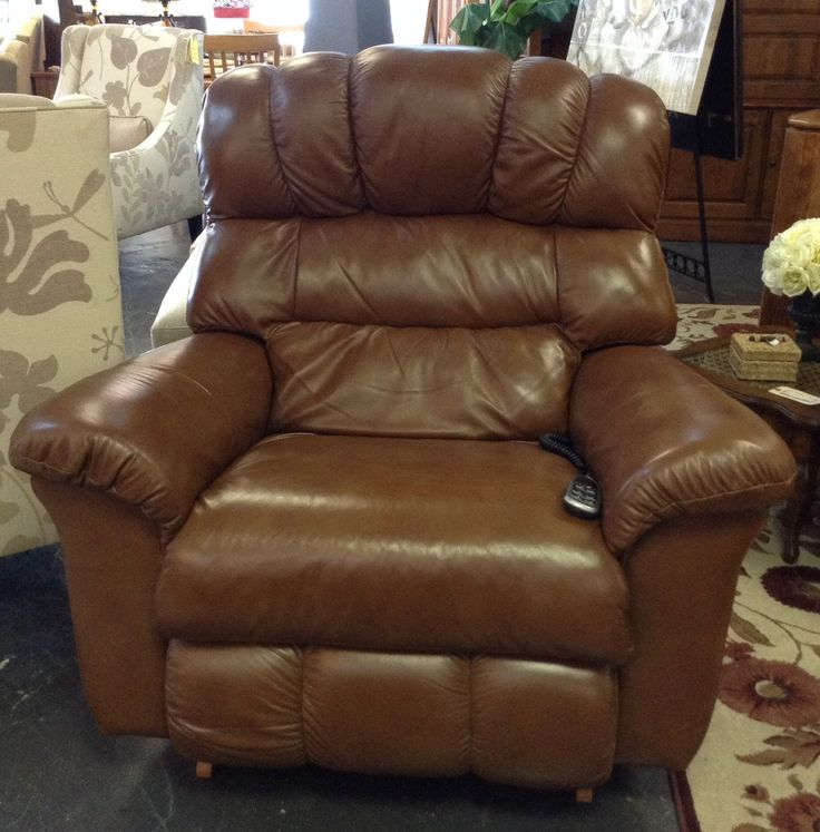 lazy boy brn leather electric recliner on sale for was