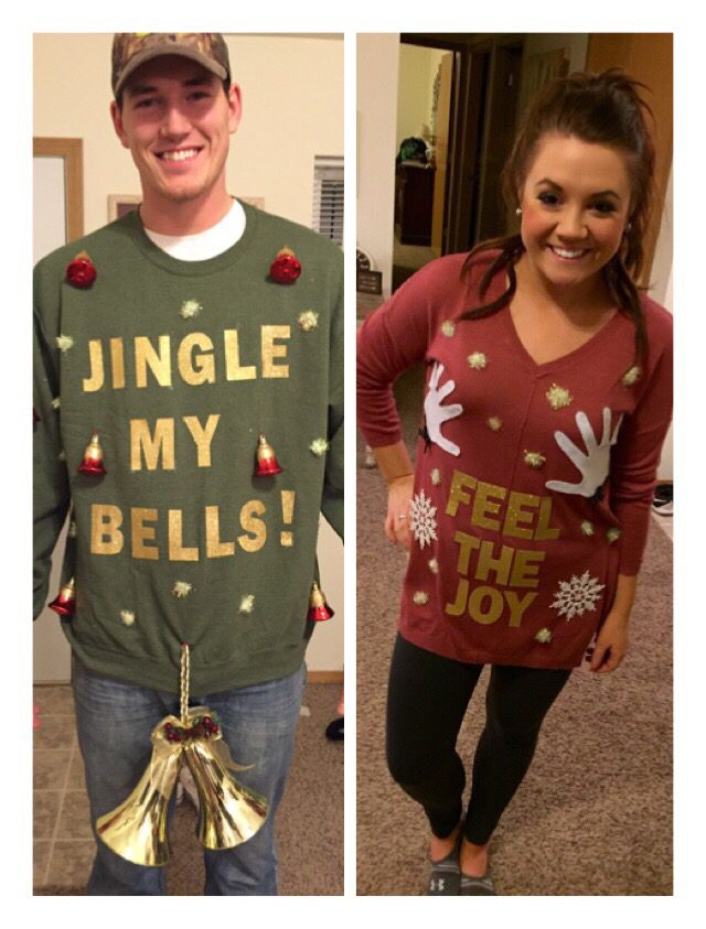 funny his and hers christmas jumpers amazon