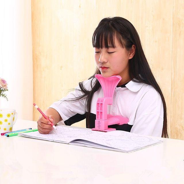Escritura corrector de Postura dispositivo de Corrección Niños Multifuncional visión protección sentado etc azul Color múltiple apoyo