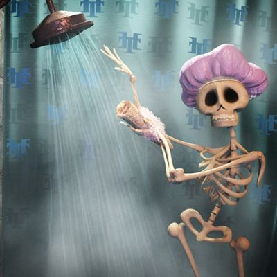 No skeletons in my closet, but there is one in the shower!
