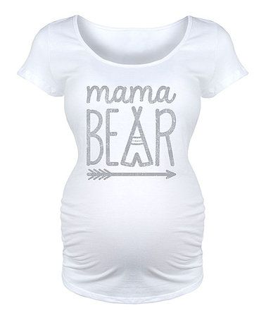 White Arrow 'Mama Bear' Maternity Scoop Neck Tee #zulilyfinds