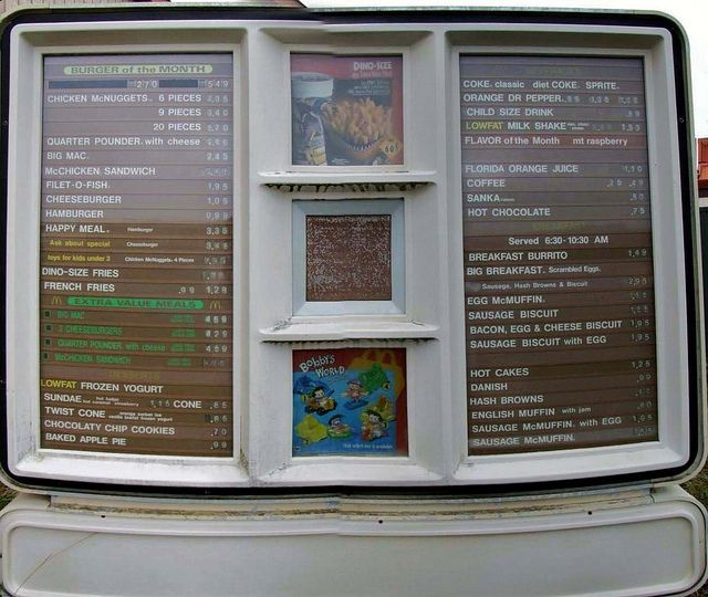 The way McD's menu looked when I was little. Such a lovely shade of brown.