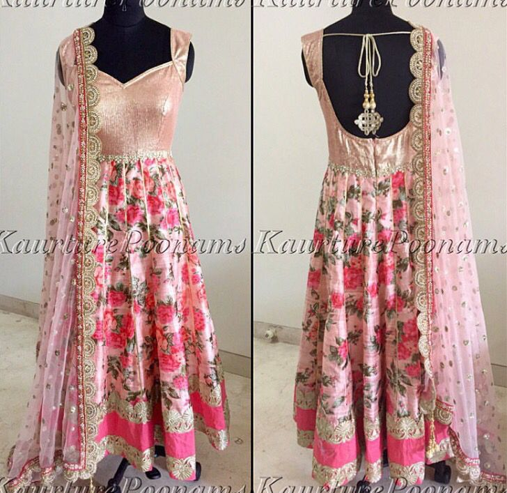 Beautiful anarkali Traditional Indian wear.
