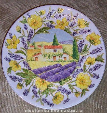 "Тарелка "" Лаванда"". Handmade. Мастер Елена Сухенко."