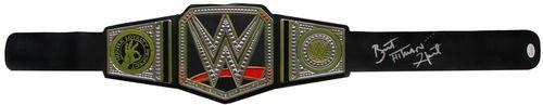Bret Hart Signed WWE Heavyweight Championship Toy Replica Belt Hitman JSA