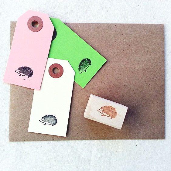 Hedgehog Rubber Stamp. #hedgehog #stamp #stationery