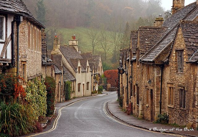 Castle Combe, Wiltshire, England. This looks like it's straight out of harry potter! Or vice versa