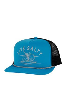 Salt Life Men's Salty Sail Trucker Mesh Cap - Turquoise - One Size