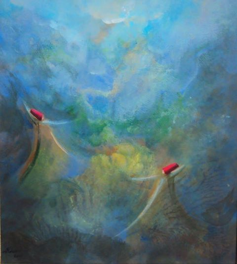 Merry hearts, merry hearts, Joy has come dancing, We have seized its chain, It seized our skirts prancing. ~Rumi Artist Khusro Subzwari