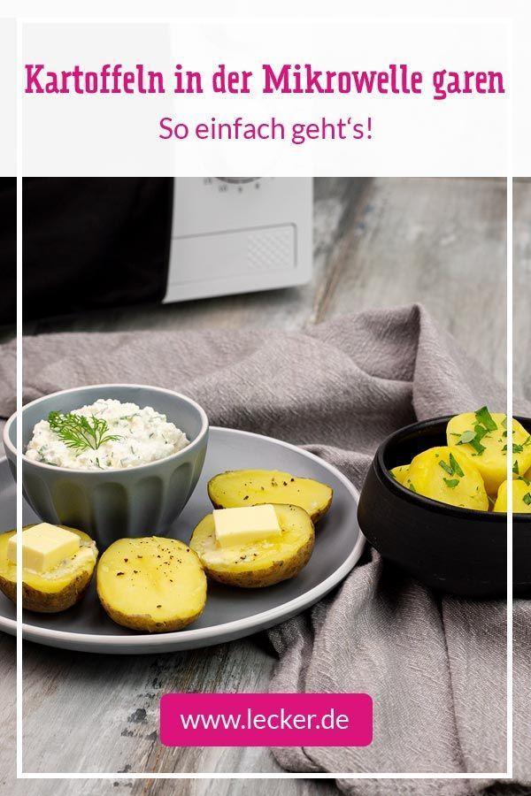 Kartoffeln In Der Mikrowelle Garen So Geht S In 2020 Kartoffeln In Der Mikrowelle Lebensmittel Essen Rezepte