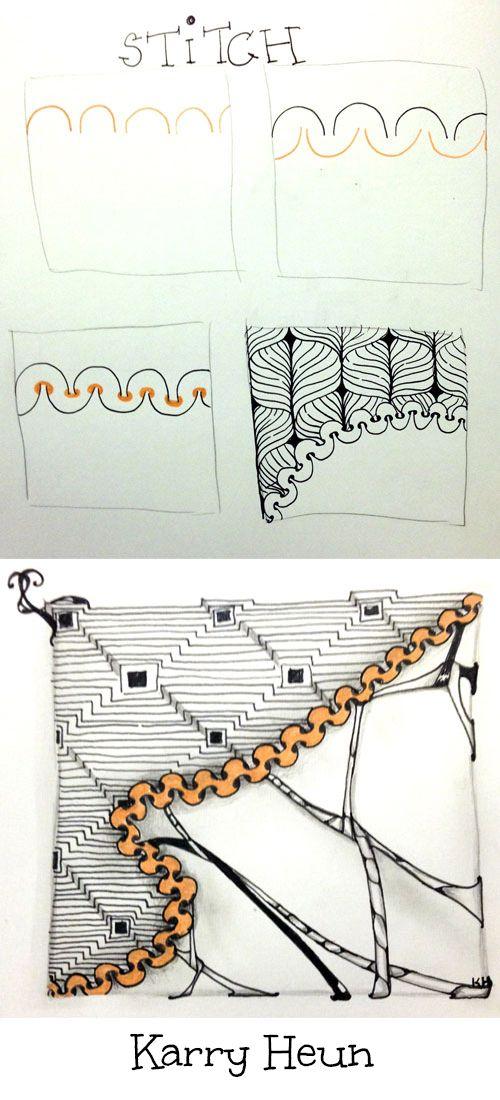 Zentangle Stitch Tangle pattern