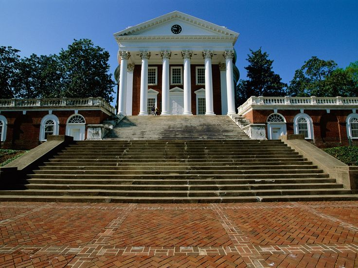 Thomas Jefferson founded UVA in 1819—he often claimed it was one of his proudest accomplishments, marking it higher on his tombstone than being president of the United States. Though the university has grown to encompass 1,682 acres, its Roman-inflected Rotunda, built in 1826, is still the symbolic heart of the campus: The Palladian-style building was named a UNESCO World Heritage Site, along with the university and Jefferson's home at Monticello.