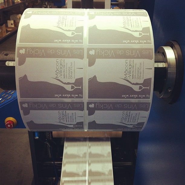 Macon-Villages Labels are printing for the new Edition of Miss Vicky's Wines - video here http://missvickywine.com/2012/03/vicky-wine-labels-ready-video-of-the-print/