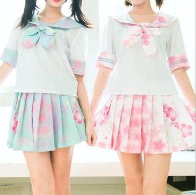 Japanese kawaii student uniform suits