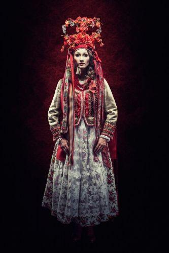 Wedding clothing from Kraków, Poland.