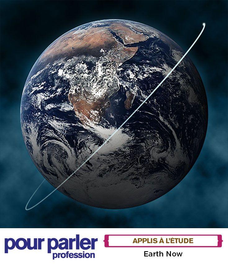 Earth Now | Voyez des modélisations tridimensionnelles selon les données des satellites de la NASA braqués sur la Terre avec cette incroyable appli. Vous aurez une vision extraterrestre des signes vitaux de notre planète. Des cartes animées, régulièrement mises à jour, montrent les changements météorologiques qui s'opèrent au fil des jours, des semaines et des mois. Une appli parfaite pour les aspirants écologistes, météorologues et animateurs de MétéoMédia de votre classe!